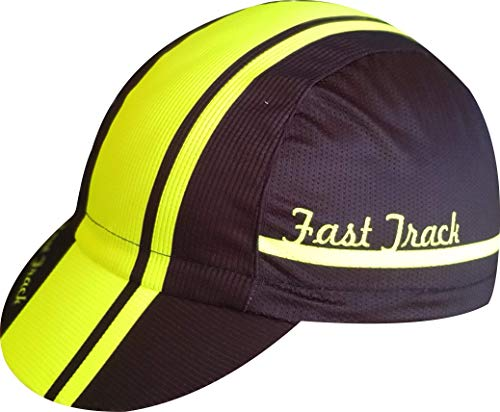 Cycle cap Ekeko Fast Track vsystem Microperforated polyester. One Size with Rear Adjustment Rubber (Yellow)