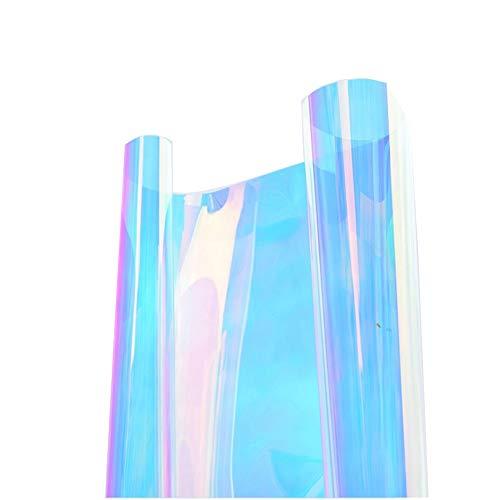 HOHO Window Film adhésif Autocollant décoratif caméléon Multicolore en Verre teinté Gradient Autocollant Rouleau 45 cmx45 cm