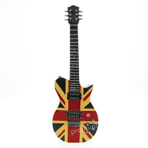Union Jack (flag) Guitar Key Box, hinged front, 33cm