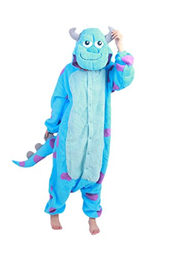 CuteOn Unisex Adulto Anime Kigurumi Pigiama Onesie Loungewear Costume Cosplay Partito Sleepwear - Jumpsuit con (Fleece Cappuccio Costume)