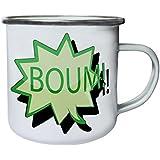 Nuevo Arte Divertido Del Logotipo Del Boum Retro, lata, taza del esmalte 10oz/280ml m177e