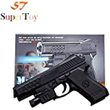 SuperToy(TM) Air Sport Laser Kids Toy Air Gun With Red Laser And Blue Light Pistol