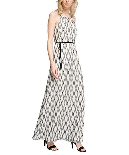 ESPRIT Collection Aus Baumwolle, Robe Femme Multicolore - Mehrfarbig (OFF WHITE 110)