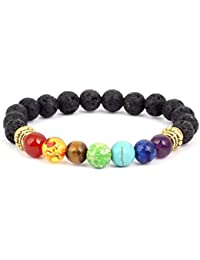 6f871615138a aiuin Lava pulsera 7 Chakra Healing Balance de pulsera de hombre y mujer  Zen Budismo brazo