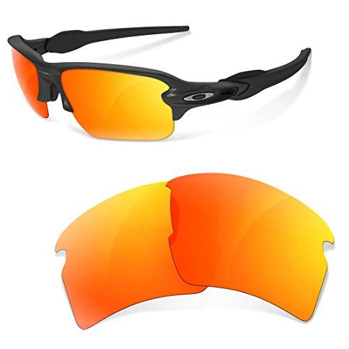 sunglasses restorer Kompatibel Ersatzgläser für Oakley Flak 2.0, Polarisierte Fire Iridium