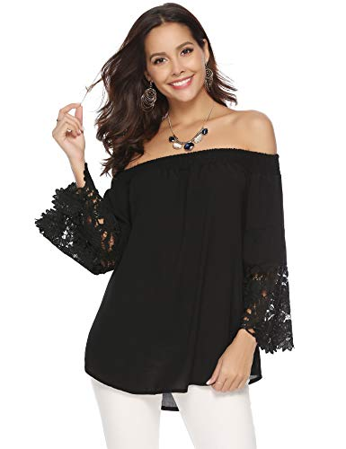 Abollria camicetta senza spalline e arricciatura donna maglietta spalle scoperte sexy blusa estiva autunnale