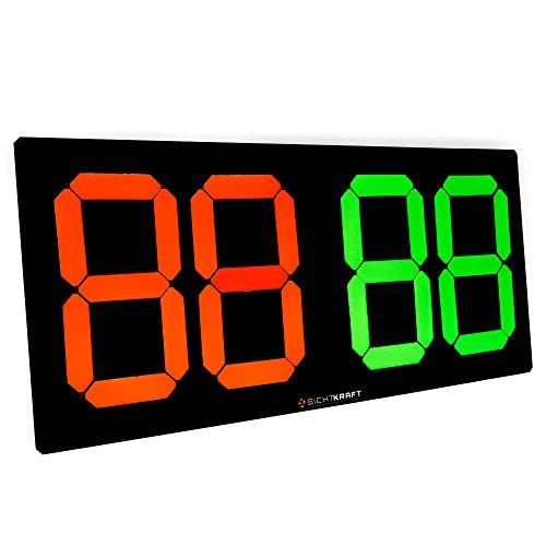 SICHTKRAFT® Auswechseltafel für Spielerauswechselung, mechanisch, wetterfest, Sichtbarkeit über 100m. Fußball, Handball, Basketball.