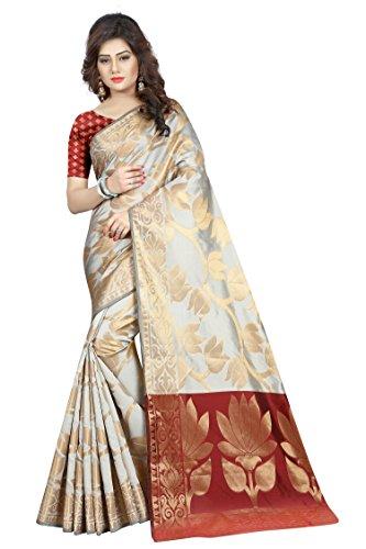 Hinayat Fashion Women's Silk Saree (Nht01Sri493_Off White_Free Size)