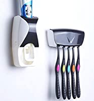 Toothpaste Dispenser & Brush Holder Set is designed for your convenience. Hygienic and Economy. It is very simple and convenient performance as one-touch method. It prevents waste of toothpaste. Be compatible with any kind of toothpaste. The hold...