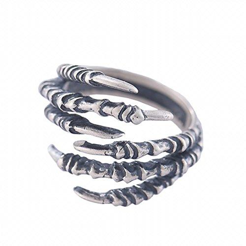 Sterling D'argento Anello Accessorio Punk Rocker Gioielli Vintage Epoca Antico Donne Silver Ring - aquila