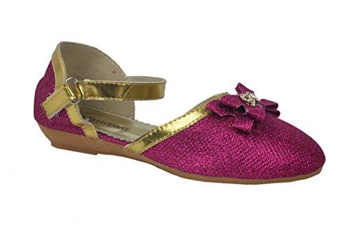 Femmes Colorful brillant Boucle Ballerina Confort chaussures plates Multicolore