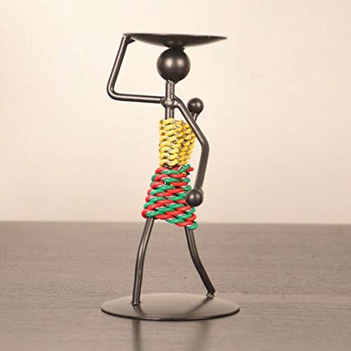 hacxiaoming Estatua Candelabro Creativo Dormitorio De Metal Adornos Artesanía Regalo Simple Estilo...