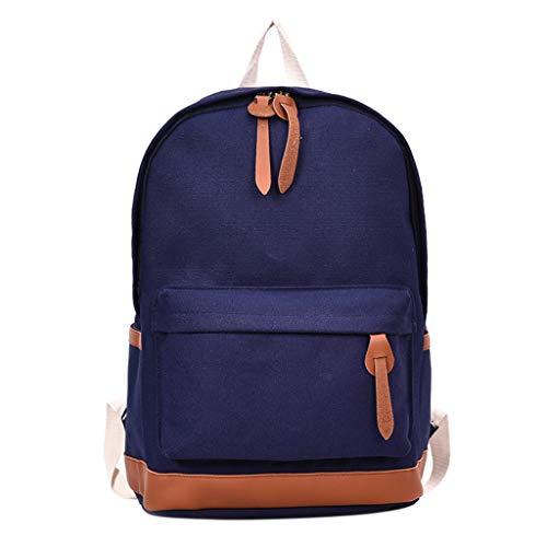 Ranoff Kinder Studententententasche, Canvas, für Männer und Frauen, Schultertasche, Studenten-Campus-Rucksack, einfarbig One_size blau -