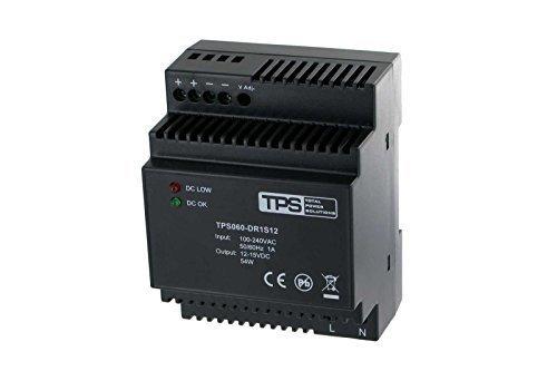 60W fuente de alimentación de carril, estabilizada Adecuado etc. para vista Door–tdr60–12VK, 12V, 2500mA