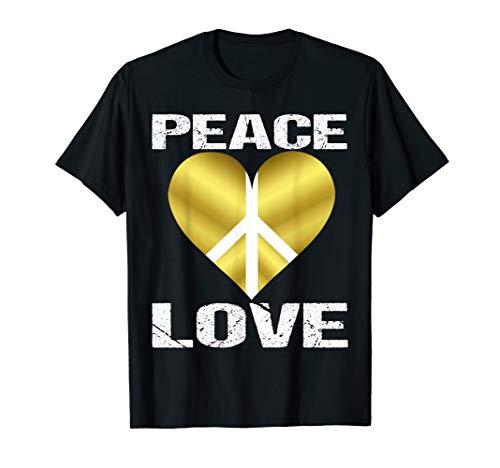Peace Love Flower 60er 70er Jahre - Hippie-Kostüm T-Shirt (Kulturen Der Welt Kostüme)