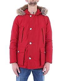 Woolrich Herren WOCPS2739CN03RED Rot Baumwolle Jacke