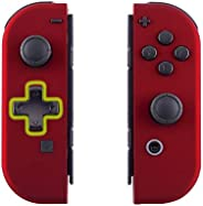 eXtremeRate Soft Touch Red Joycon Handheld Controller Housing (D-Pad Version) with Full Set Buttons, DIY Repla