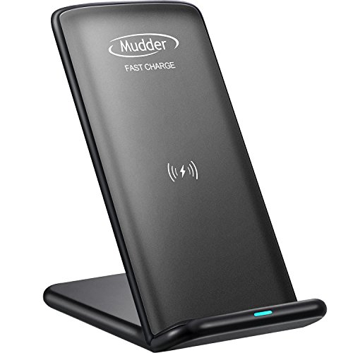 E Verizon Moto (Note 8, S8 Schnell Kabellose Ladegerät, Mudder 2 Spulen QI Kabellos Ladegerät für iPhone X, iPhone 8, iPhone 8 Plus, Samsung Galaxy S8, S8 Plus, S7, S7 Edge, S6 Edge Plus, Nexus 7/6/5/4, Nokia Lumia 1520, LG G6 und Andere QI- Fähige Geräte)