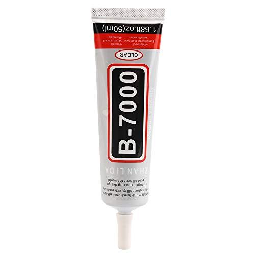 Erduo 50 ml B-7000 Praktische Super Starken Klebstoff Kleber Mit Nadel Für Handy DIY Shell Strasssteine   -