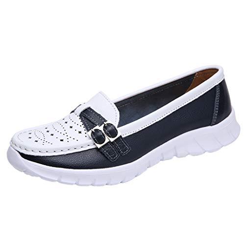Leey Femmes Sandales Plates Confortables Baskets LéGèRes Respirant Occasionnels Chaussures Trou Trou Baskets