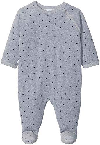 Sanetta Baby-Jungen Overall Schlafstrampler, Grau (Grey Mel. 1737.0), 74