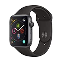 Apple Watch Series 4-44mm Space Gray Aluminum Case with Black Sport Band, GPS, watchOS 5