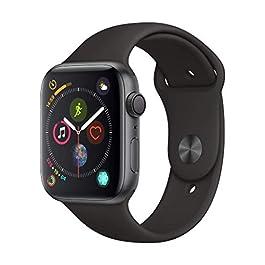 Apple Watch Series 4 (GPS, 44mm) Cassa in Alluminio Grigio Siderale e Cinturino Sport Nero