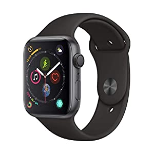 Apple Watch Series 4 (GPS, 44mm) Aluminiumgehäuse Space Grau – Sport Loop Schwarz