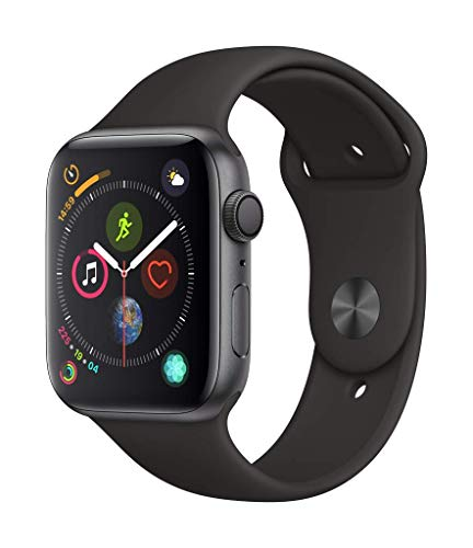 Apple Watch Series 4 (GPS, 44mm) Aluminiumgehäuse Space Grau - Sportarmband Schwarz
