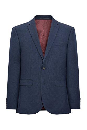 next Homme Veste de costume à motif œil-de-perdrix lavable en machine Bleu Marine