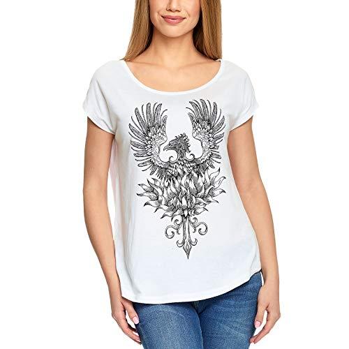 Harry Potter Damen T-Shirt Phönix Baumwolle weiß - M