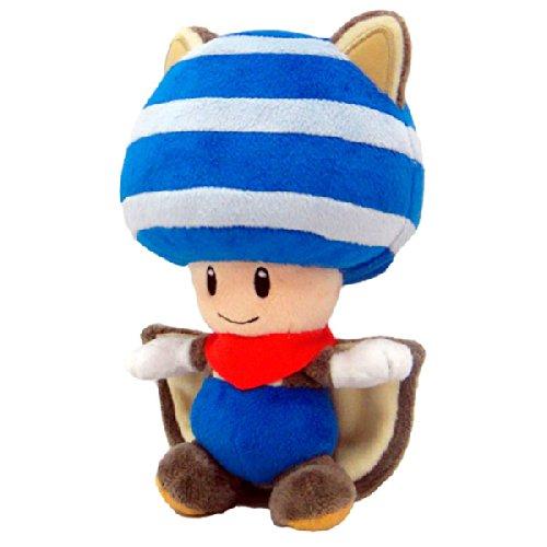 Peluche Super Mario: Toad disfraz ardilla voladora