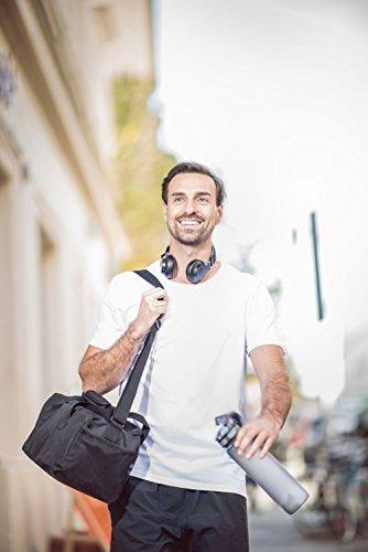 Everbasics Herren T-Shirt Turin Rundhals - Funktionsshirt für tagelanges Tragen ohne Waschen - in vielen Farben erhältlich! Schwarz