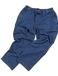 XXL Jean confortable avec ceinture élastique, bleu clair, laver a la pierre