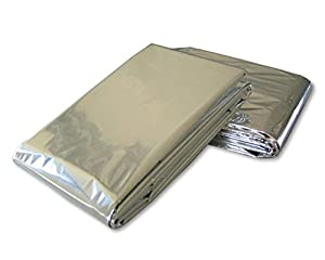 Butterme 5 Pack Emergency Blanket Set Foil Survival Blanket Reflective Thermal First Aid for Walkers, Climbers, Runners, Skiers