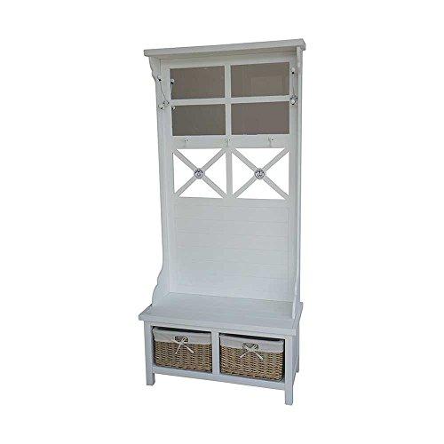 Garderobe mit Sitzbank Landhaus Pharao24