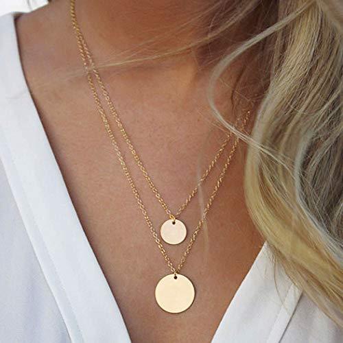 Yean Pailletten Anhänger Halskette Layered Coin Halsketten Gold Schmuck Kette für Frauen und Mädchen