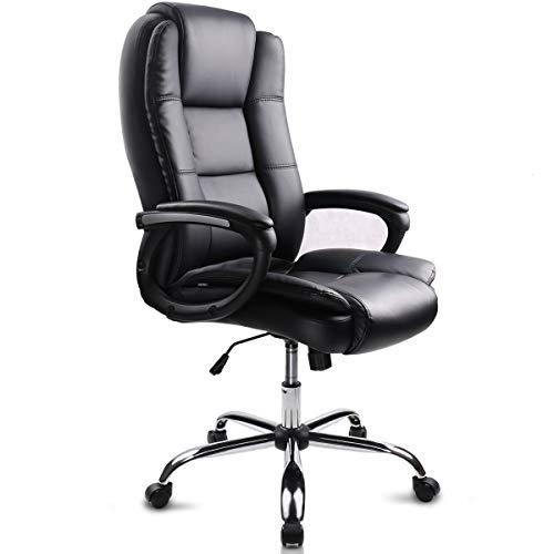 Sedia da ufficio per computer Sedia da ufficio girevole in pelle Design esclusivo Supporto per la schiena durevole