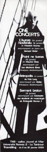 Travelling - 1999 Villes imaginaires - marque-page ciné concerts (Nosferatu) Pdf - ePub - Audiolivre Telecharger