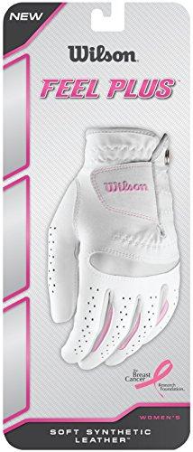 Wilson Damen Golfhandschuh, Größe M, Links, LLH, Weiß, Feel Plus, WGJA00770M Womens Golf Club Grips