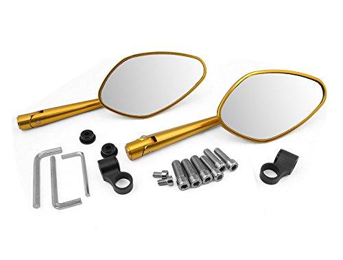 Preisvergleich Produktbild Motorrad-Teile Aluminium Left & Right Side Rear View Mirror Kits Gold fit für Ducati MONSTER M600 1994 1995 1996 1997 1998 1999 2000 2001 (DC-22 / DB-12)