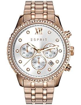 Esprit Damen-Armbanduhr TP10873 Rose Gold Analog Quarz Edelstahl beschichtet ES108732002