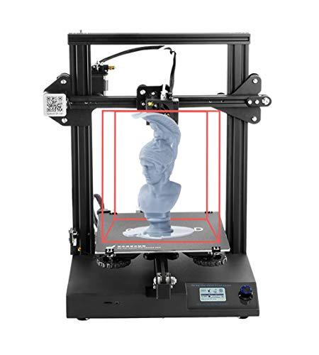 Huatxing mega 3d printer cr20 full metal con letto riscaldato brevettato e touch screen da 3,5 pollici grande formato di stampa, compatibile con pla, abs, hips, wood