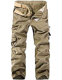 134b112d6ea6b OEAK Pantalon de Travail Homme Cargo Chino Vintage Pantalon Randonnée  Militaire Casual Durables avec Multi Poches en Coton/Short…