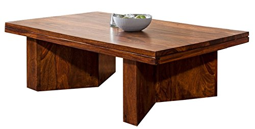 TimberTaste MARY Solid Wood  Coffee Table (Lacquer Finish, Teak Wood)