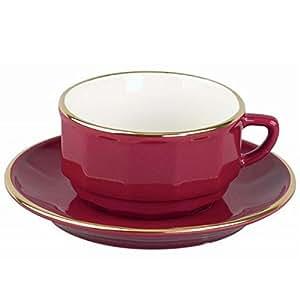 OLD 2 Tasses déjeuner Bistrot Rouge et or - 28 cl