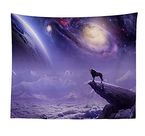 WSHINE Nature Space Galaxy Tapisserie Wolf Lion Wandbehang Home Decor Party Supplies Tagesdecke Large 7