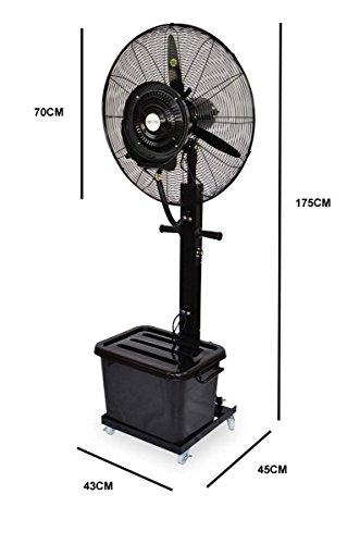 Ventilador nebulizador portatil para microclima