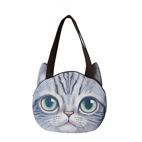 Gwell 3d Borsa A Tracolla Borse Da Donna Borsa Da Donna Scuola Animali Borsa Da Viaggio Tutti I Giorni Cat-c Cat-b