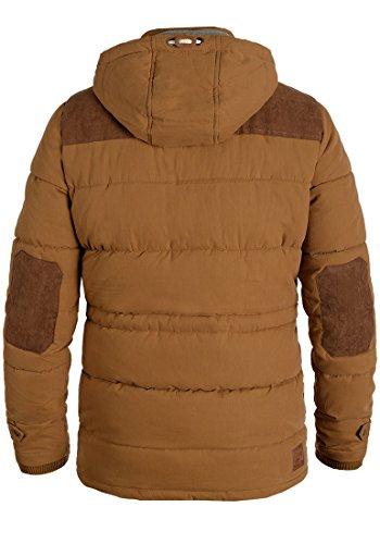 SOLID Dry Long Herren Winterjacke Jacke mit Stehkragen und abnehmbarer Kapuze aus hochwertiger Baumwollmischung Cinnamon (5056)